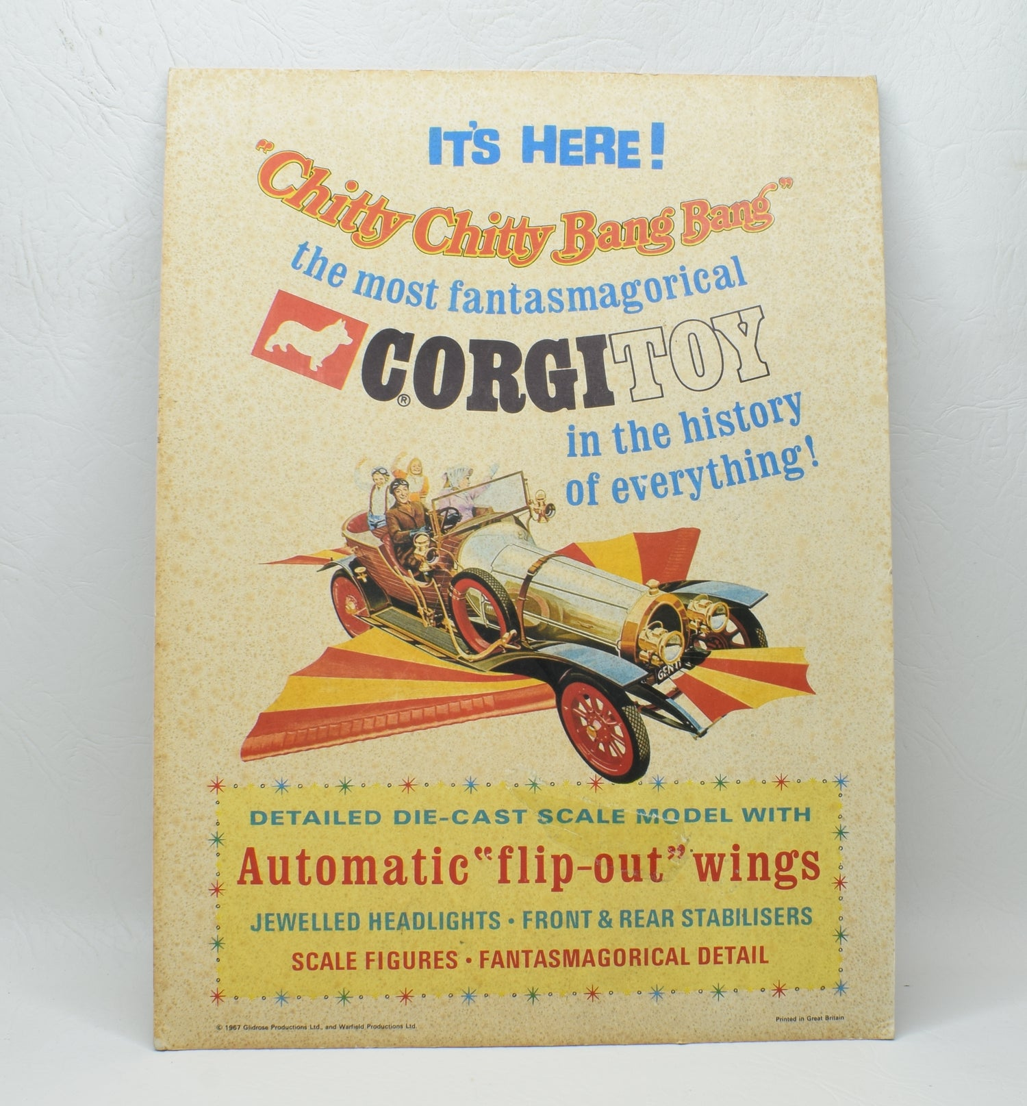 Corgi toys 266 Chitty Chitty Bang Bang Point of sale card display
