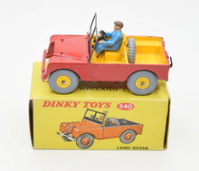 Dinky toy 340 Land-Rover Very Near Mint/Boxed (Yellow Plastic Hubs)