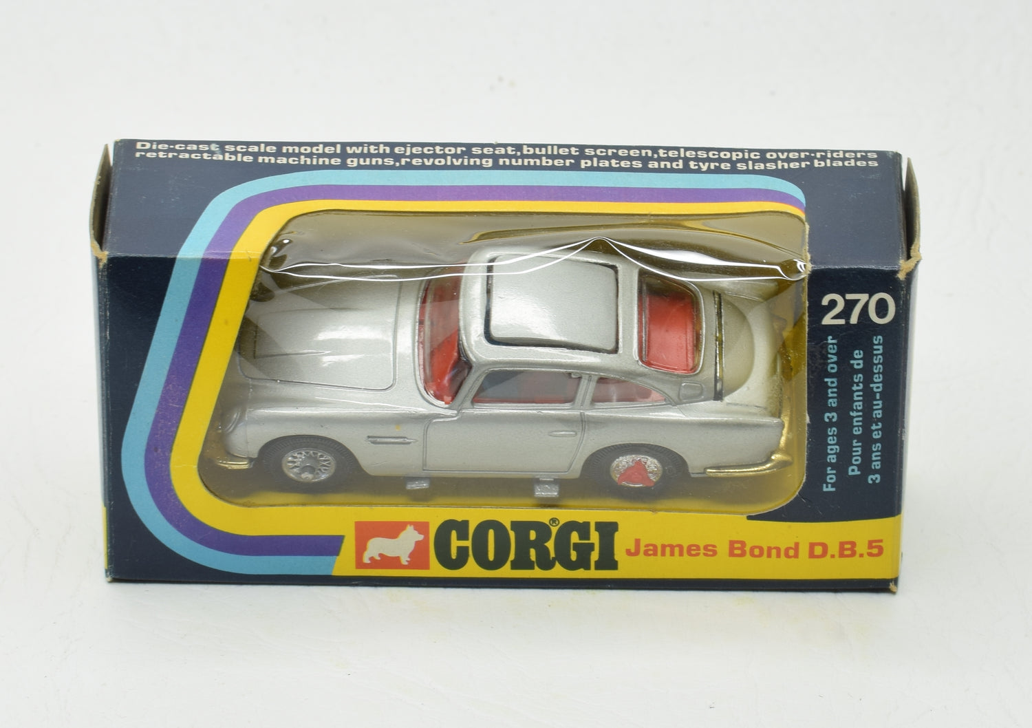 Corgi Toys 270 James Bond DB5 Virtually Mint/Boxed (New The 'Geneva' Collection)
