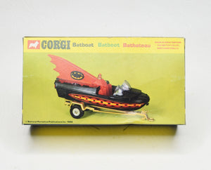 Corgi toys 107 Batboat 2nd issue Virtually Mint/Boxed (New 'The Lane' Collection)