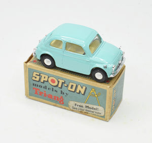 Spot-on 185 Fiat 500 Very Near Mint/Boxed (Light tuquoise)