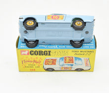 Corgi toys 348 Flower Power Mustang Virtually Mint/Boxed (Flower Power boot label) (The 'Geneva' Collection)