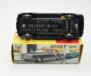 French Dinky 1400 Peugeot 404 Taxi Very Near Mint/Boxed