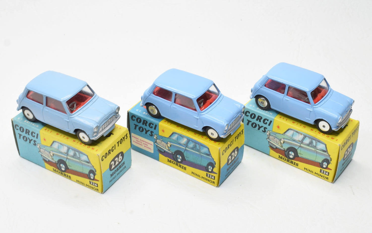Corgi toys 226 Morris Mini-Minor Virtually Mint/Boxed (New The 'Geneva' Collection)