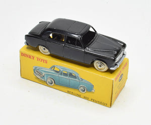 French Dinky Toys 24b Peugeot Berline Very Near Mint/Boxed