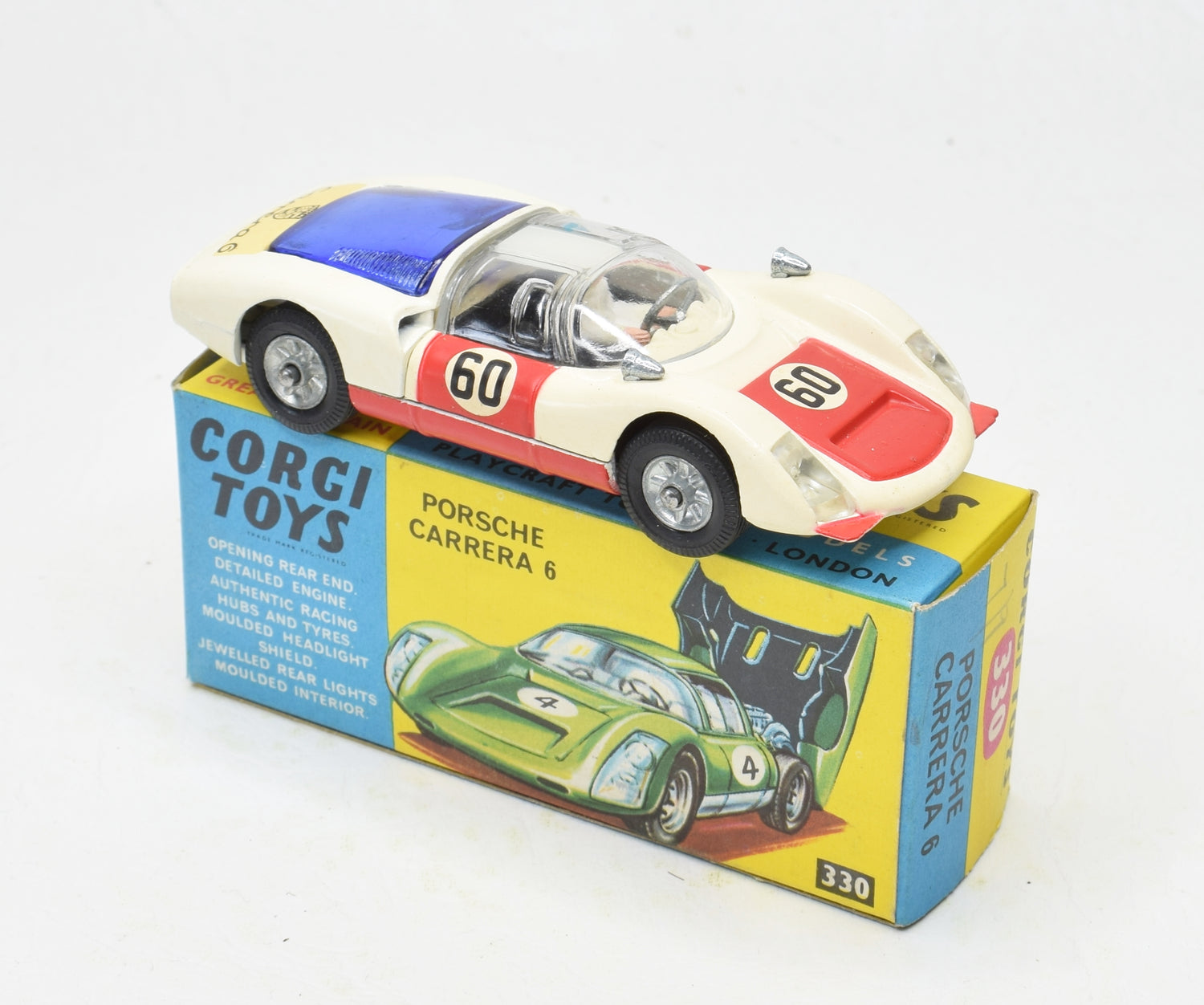 Corgi Toys 330 Porsche Virtually Mint/boxed (New The 'Geneva' Collection)