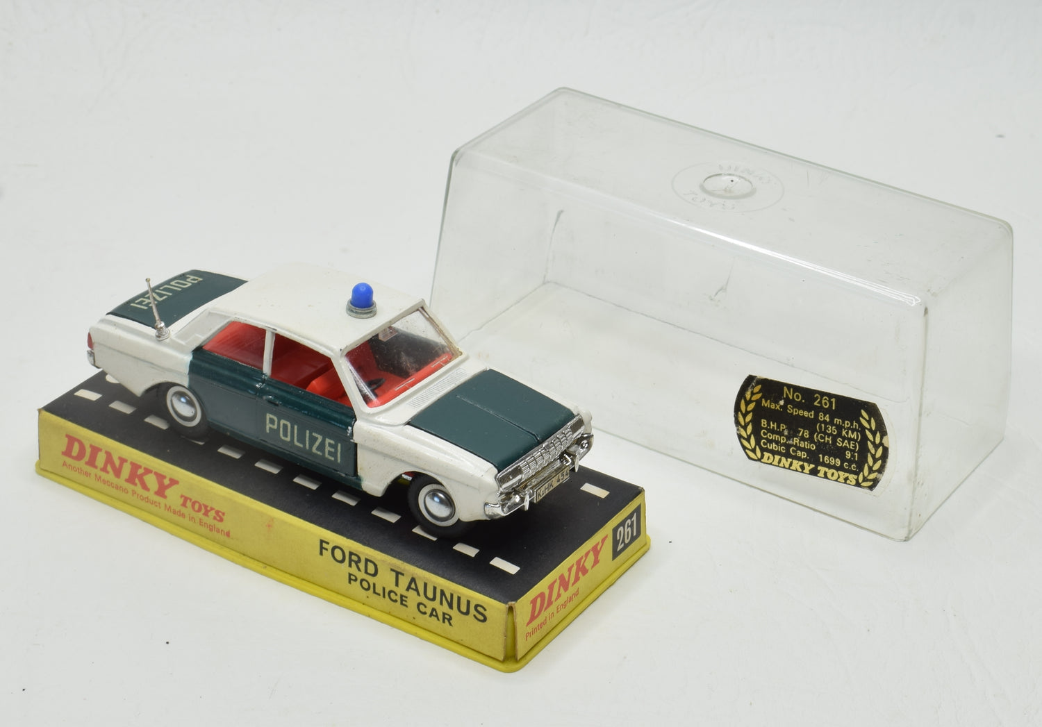 Dinky Toys 261 Ford Taunus 'Polizei' German Promotional Very Near Mint/Cased 'Brecon' Collection Part 2