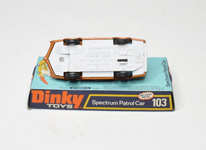 Dinky toys 103 Spectrum Patrol Car Very Near Mint/Boxed 'The Lane' Collection