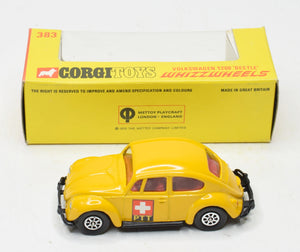 Corgi toys 383 VW 1200 Beetle PTT Virtually Mint/Boxed The 'Geneva' Collection