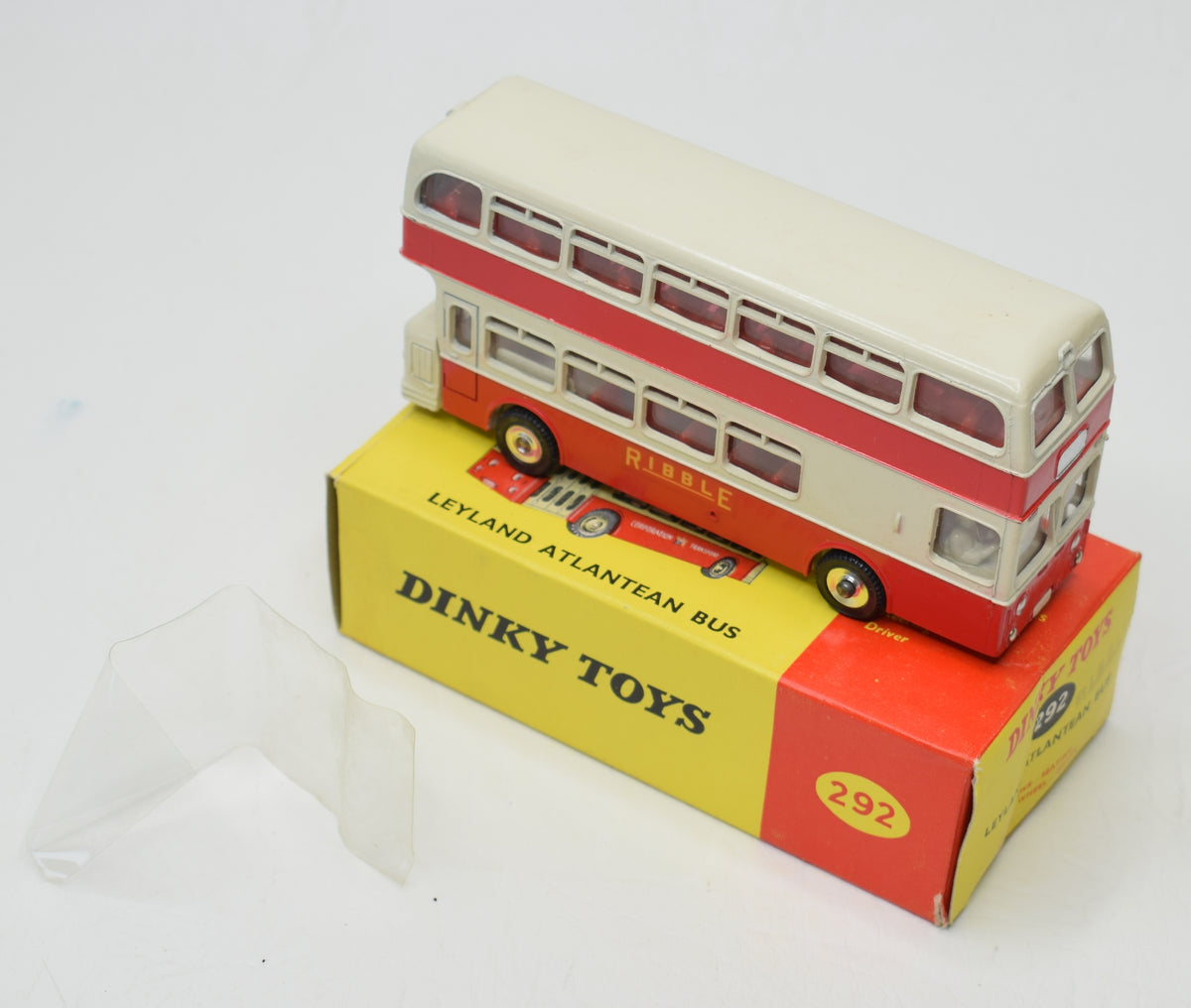 Dinky 292 Leyland Atlantean Bus 'RIBBLE' Old Shop stock (3 of 4)