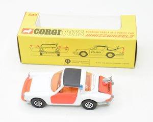 Corgi toys 509 Porsche Targa 911s 'Rijkspolitie' Virtually Mint/Boxed The 'Geneva' Collection
