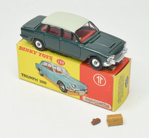 Dinky toys 135 Triumph 2000 Promotional Virtually Mint/Boxed (Conifer green & cactus).
