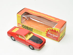 Corgi toys 391 James Bond Ford Mustang (Open slot hubs) Very Near Mint/Boxed 'The Lane' Collection