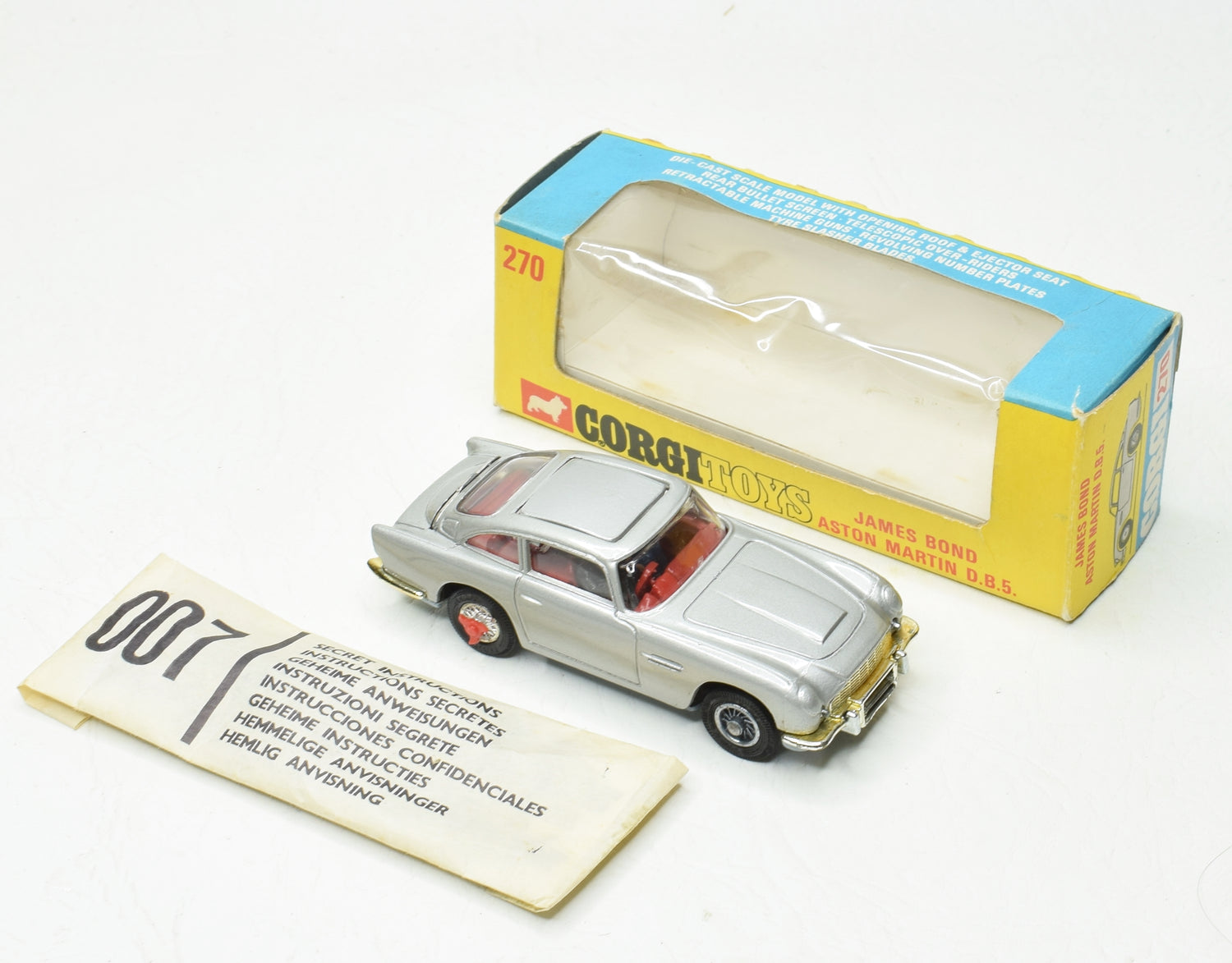Corgi Toys 270 James Bond DB5 Very Near Mint/Boxed 'The Lane' Collection