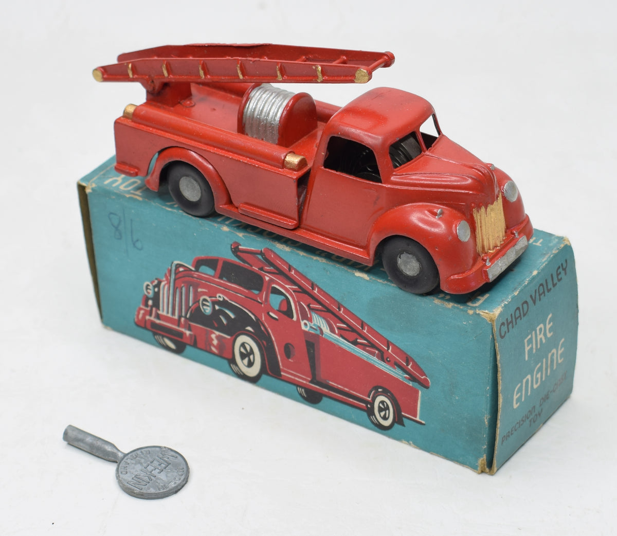 Chad Valley - Wee Kin Fire Engine Very Near Mint/Boxed