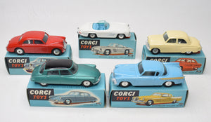Selection of 5 Blue Corgi Virtually Mint/Boxed