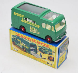 Matchbox King Size K-5 Racing Car transporter Old shop stock