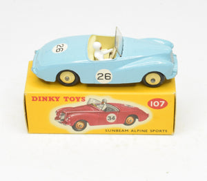 Dinky toys 107 Sunbeam Alpine Sports Virtually Mint/Boxed The 'Valencia' Collection