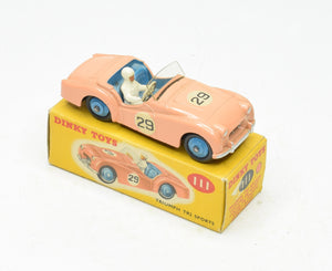Dinky toys 111 Triumph Tr2 Very Near Mint/Boxed