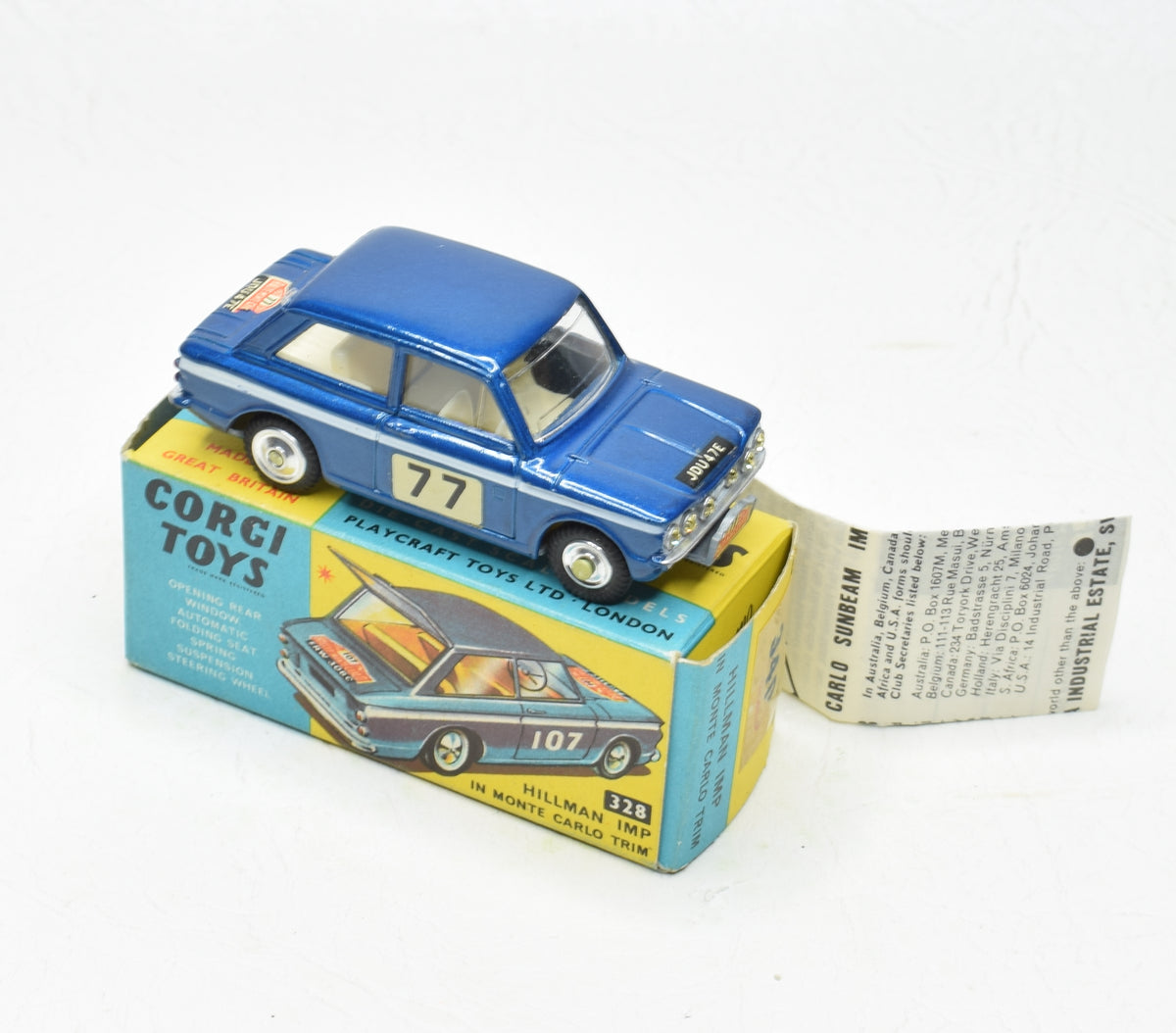 Corgi toys 340 Hillman Imp Very Near Mint/Boxed (Model specific leaflet)