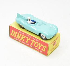 Dinky toys 238 Jaguar D type Virtually Mint/Boxed 'Wickham' Collection