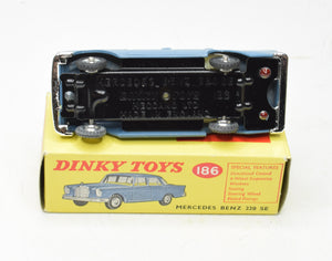 Dinky toys 186 Mercedes Benz 220 se Very Near Mint/Boxed 'Wickham' Collection