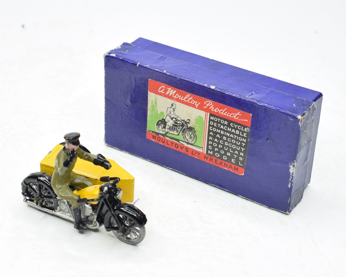 Moultoy A.A scout motorcycle & sidecar Very Near Mint/Boxed