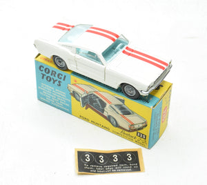 Corgi toys 325 Ford Mustang Virtually Mint/Boxed 'Wickham' Collection