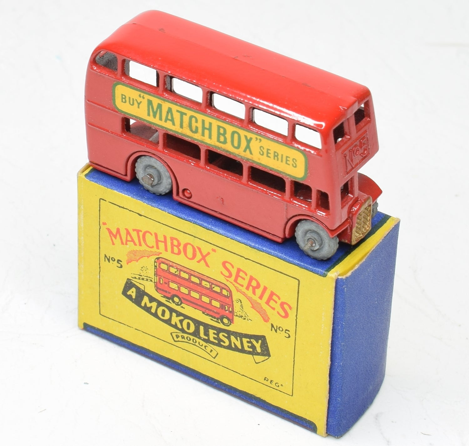 Matchbox Lesney 5 London Bus RW/B1 box Virtually Mint/Boxed