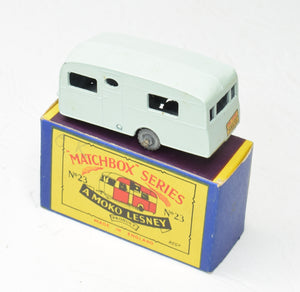 Matchbox Lesney 23 Caravan RW/B2 box Virtually Mint/Boxed