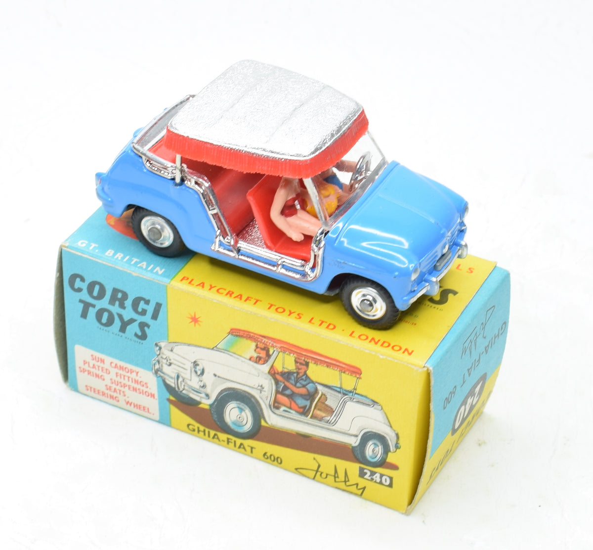 Corgi toys 240 Fiat Jolly Very Near Mint/Boxed 'Carlton' Collection