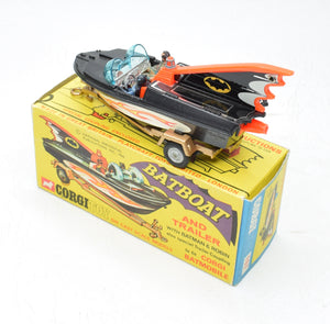 Corgi toys 107 Batboat Very Near Mint/Boxed 'Carlton' Collection