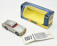 Corgi Toys 270 James Bond DB5 Virtually Mint/Boxed (With 'For ages 3 & above)