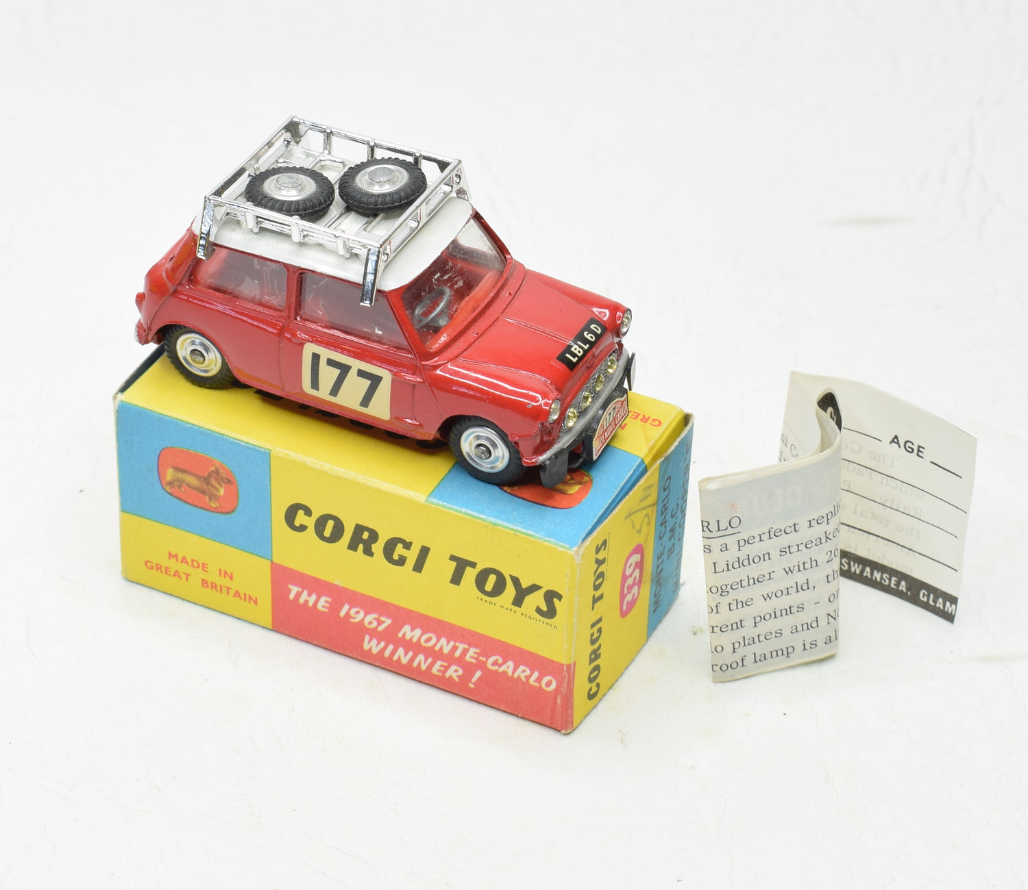 Corgi Toys 339 Austin Monte Carlo Mini Cooper 'S'. Very Near Mint/boxed