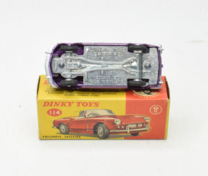 Dinky toy 114 Triumph Spitfire Very Near Mint/Boxed