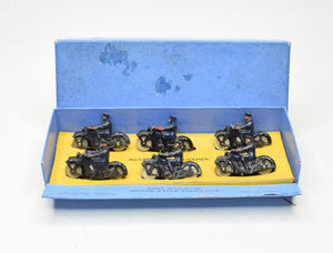 Dinky toys 37b Police Motor Cyclist Trade box Near Mint/Boxed