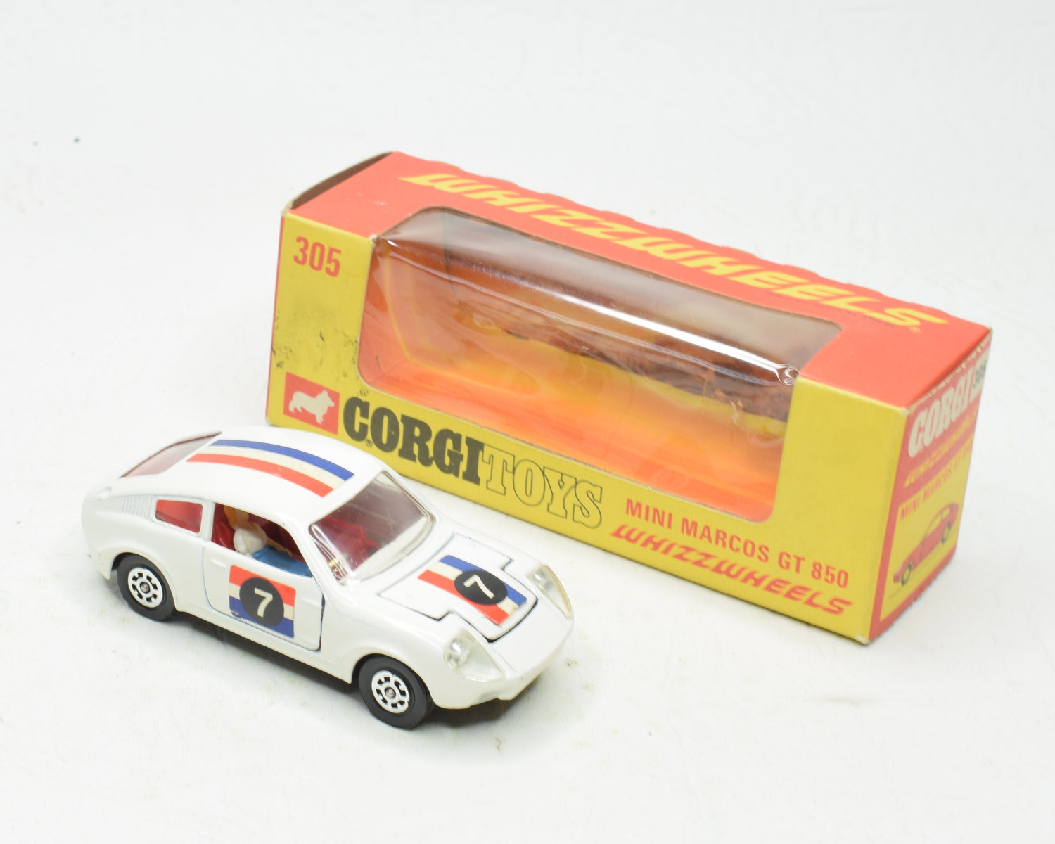Corgi toys 305 Mini Marcos GT 850 litre Very Near Mint/Boxed (The 'Ashdown' Collection)