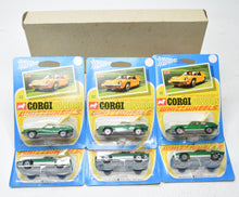 Corgi Junior 32 trade sleeve of 6 Lotus Europa Mint/Blistered 'Finley' Collection