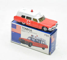 Tomica F60 Cadillac Ambulance Virtually Mint/Boxed The 'Victoria' Collection