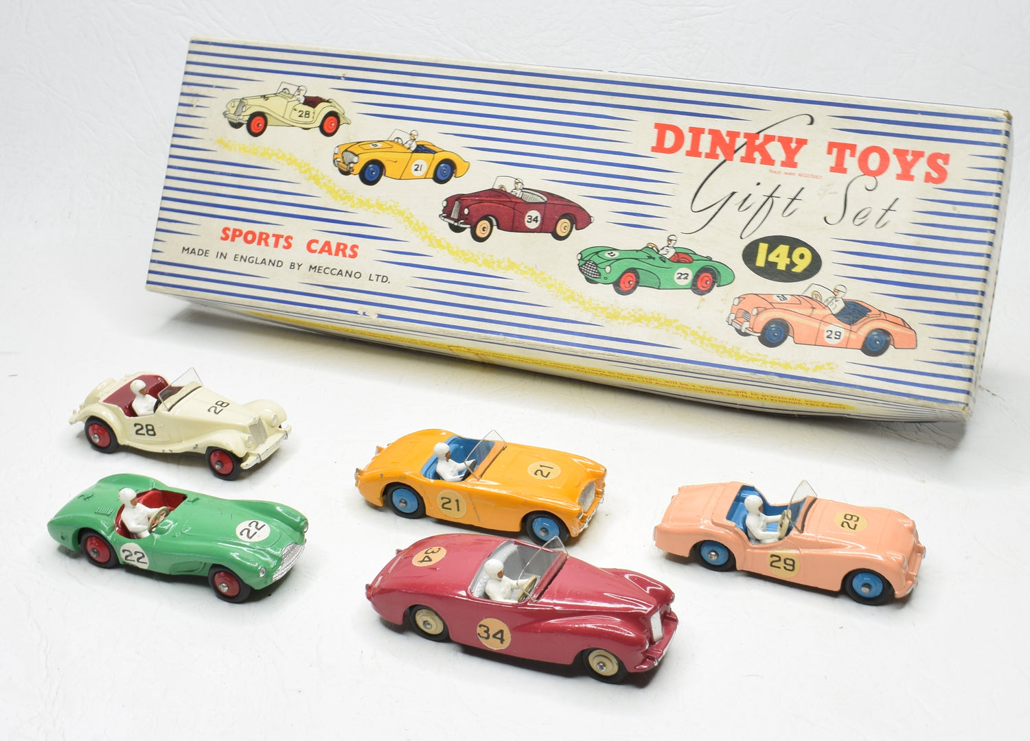 Dinky toys 149 Sports Car Gift set Very Near Mint/Boxed 'Brecon' Collection