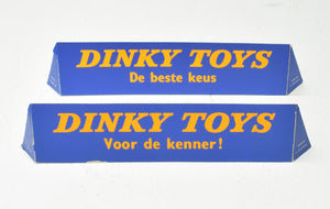2 x Dutch 'Point of sale' Dinky Counter or Shop window display sign