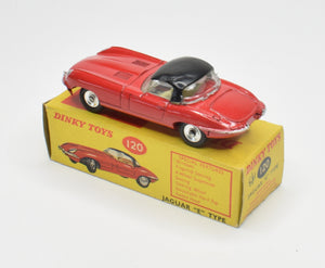 Dinky toy 120 Jaguar e-type Virtually Mint/Boxed