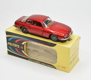 Politoys Art. 530 Alfa Romeo 2600 Zagato Very Near Mint/Boxed
