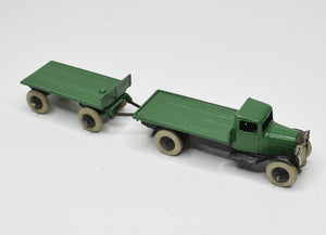 Dinky toy 252 & 25g Flat truck & trailer Virtually Mint (2nd type)