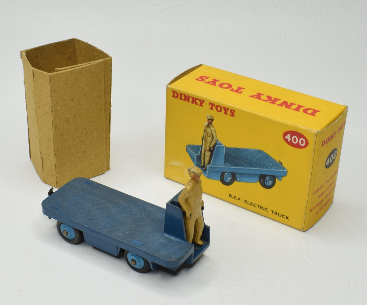 Dinky toys 400 B.E.V Electric Truck Very Near Mint/box (Rare Dark Blue)  'P.C.R' Collection