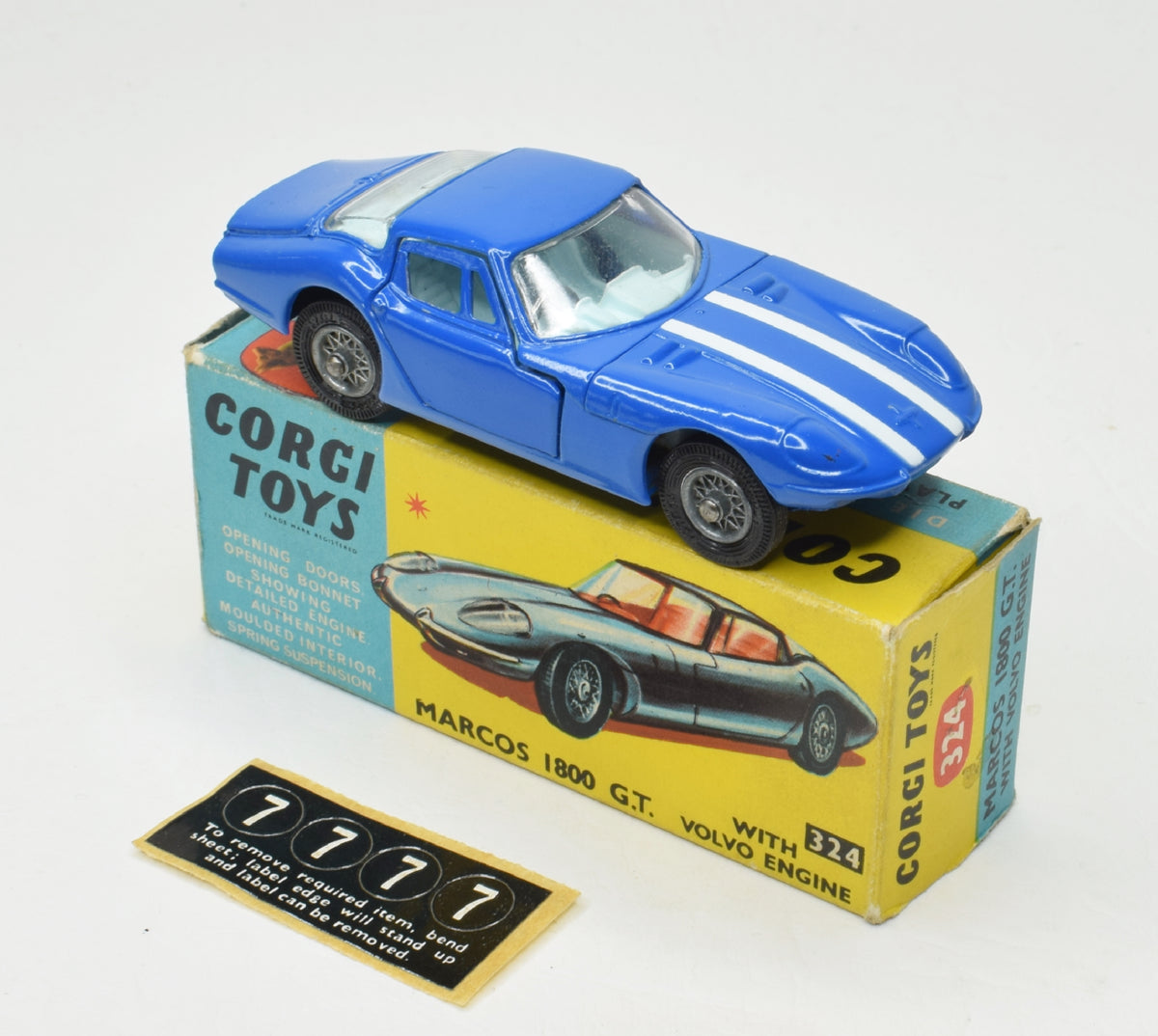 Corgi toys 324 Marcos 1800 Very Near Mint/Boxed 'P.C.R' Collection