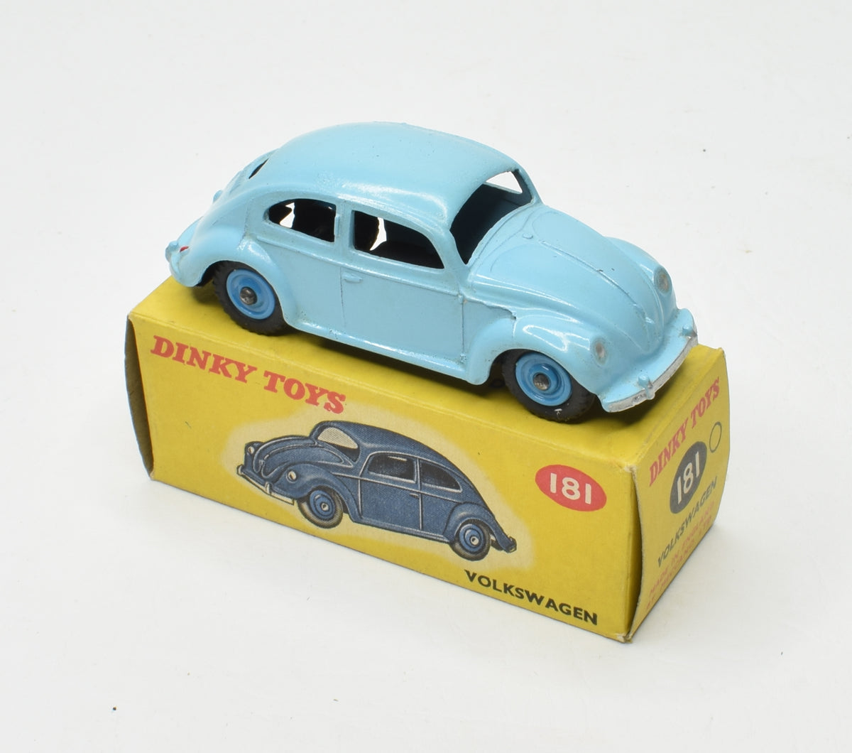 Dinky toys 181 VW Beetle Virtually Mint/Boxed (Plastic hubs)