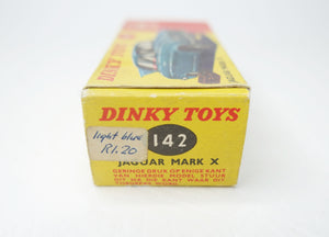 Dinky Toys 142 'South African' Jaguar Mark X Very Near Mint/Boxed