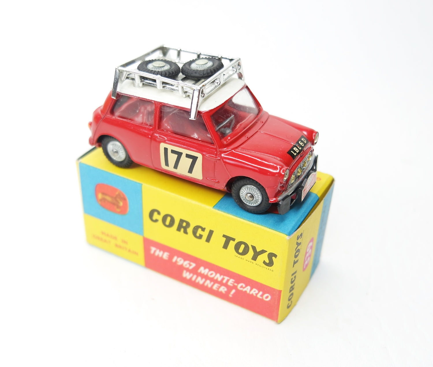 Corgi Toys 339 Austin Monte Carlo Mini Cooper 'S'. Virtually Mint/boxed