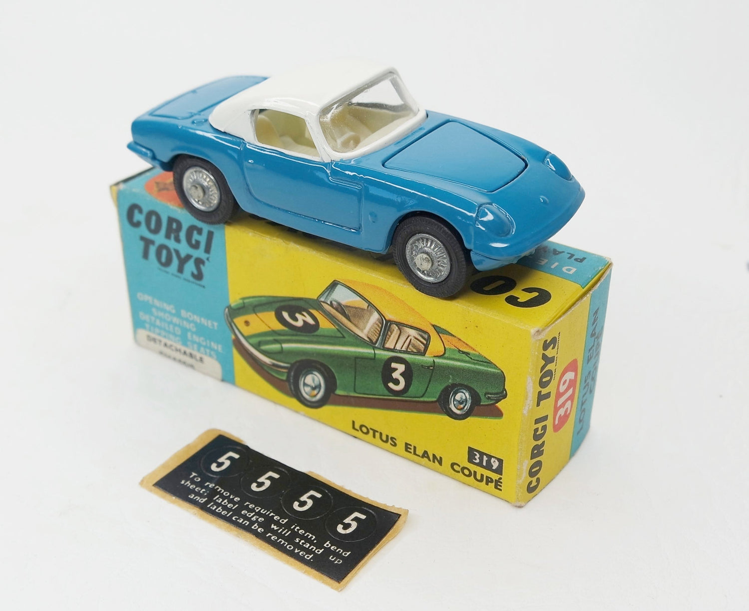 Corgi Toys 319 Lotus Elan Virtually Mint/Boxed (C.C).